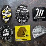 Series of app promotion stickers for Mohawk Austin, completed during my internship at Guerilla Suit